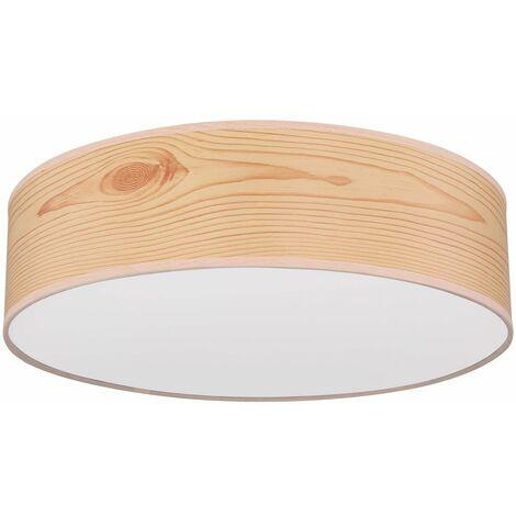 Lámpara de foco de techo de diseño living comedor iluminación lámpara de madera óptica natural Globo 15363N
