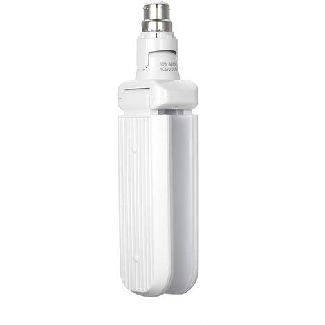 Lampara de garaje, lampara deformable, blanco frio, 30W 85-265V 6000-6500K, B22