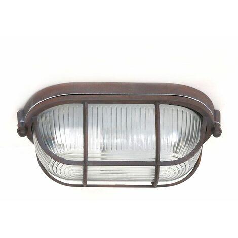 Lámpara de iluminación de cocina de pasillo de estilo industrial de vidrio marrón óxido luminaria de techo Steinhauer 1340B