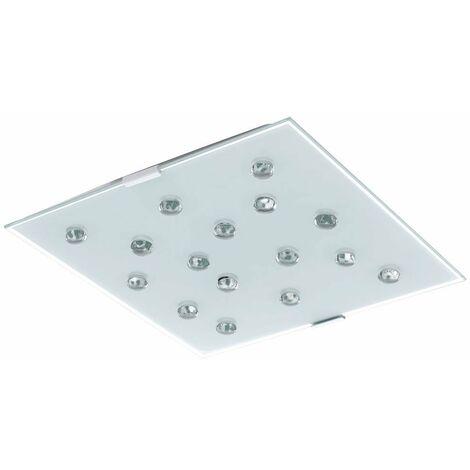 Lámpara de iluminación LED de techo de alta calidad piedras de cristal claro blanco ahorro de energía Eglo 93417