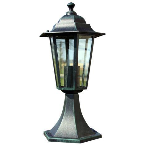 Lámpara de jardín aluminio verde/negro