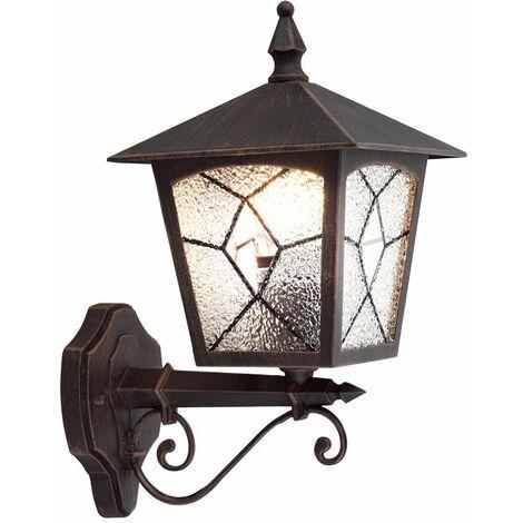 lámpara de la puerta de aluminio establecer incl Exterior pared fachadas linterna luz rostfärbig. lámparas LED