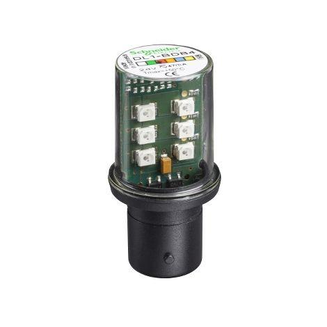 LAMPARA DE LED BA 15D 24 V ROJO SCHNEIDER ELECTRIC DL1BDB4