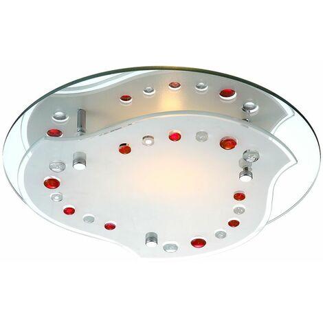 lámpara de luz roja decoración de la habitación iluminación interior living cromo lámpara de techo de 7W LED