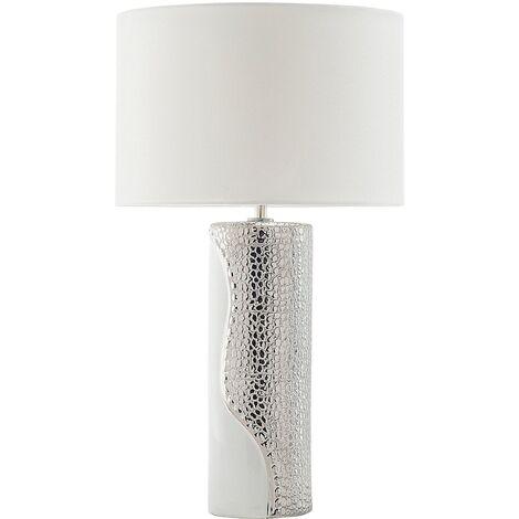 Lámpara de mesa blanco/plateado AIKEN