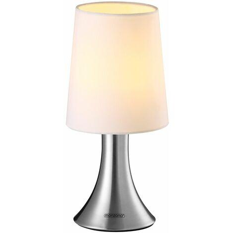 """main image of """"Lámpara de mesa Cahaya con base de metal táctil y 3 modos de iluminación """""""