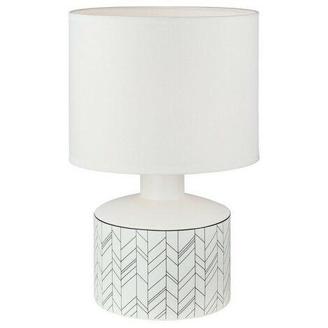Lámpara De Mesa Cerámica (22,5 X 35 X 22,5 Cm)