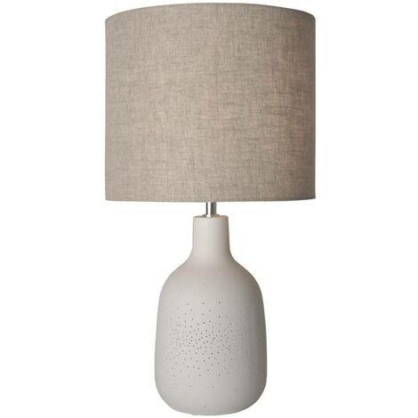 Lámpara de mesa de cerámica con luz doble E27 2x25W