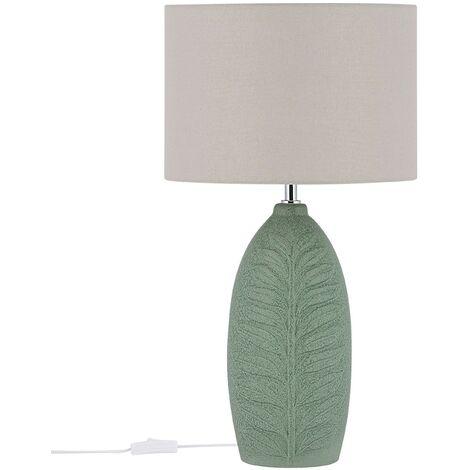 Lámpara de mesa de cerámica verde OHIO