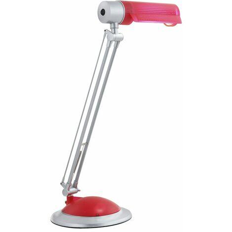 Lámpara de mesa de escritura nocturna lámpara de lectura de plata roja iluminación de la habitación del dormitorio Globo 58124