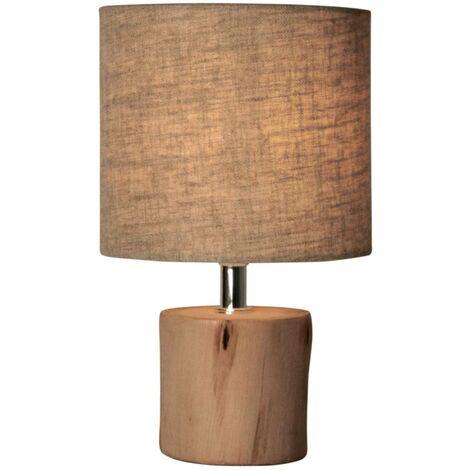 Lámpara de mesa de madera minimalista E14