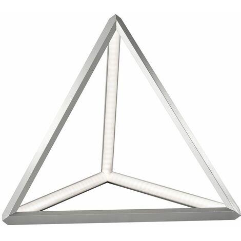 Lámpara de mesa de noche LED pirámide ALU iluminación de dormitorio lámpara de lectura triángulo Fischer Leuchten 50208