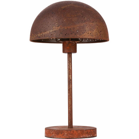 Lámpara de mesa decoración lámpara de color óxido iluminación salón comedor mesita de noche