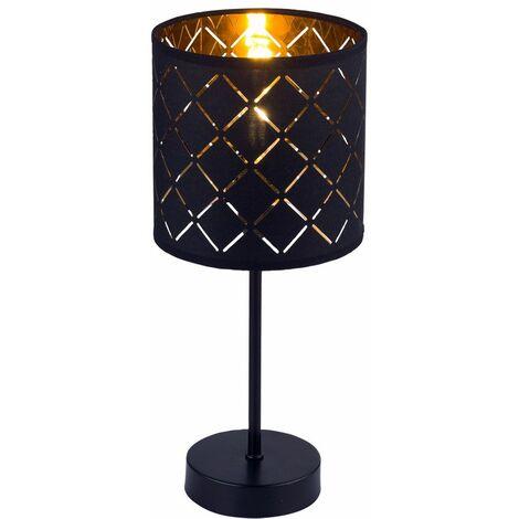 Lámpara de mesa Dormitorio para dormir Lado de lectura Conjunto de patrones de textiles, incluye iluminador LED