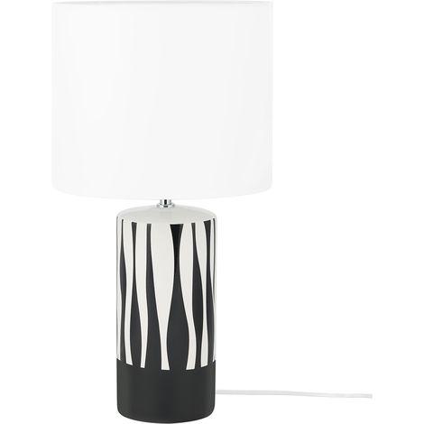 Lámpara de mesa en blanco/negro NAVESTI