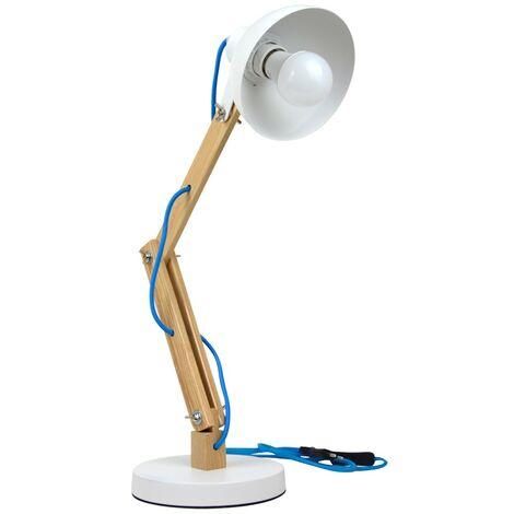 "Lámpara de mesa flexo ""DAKOTA"" | Blanco"