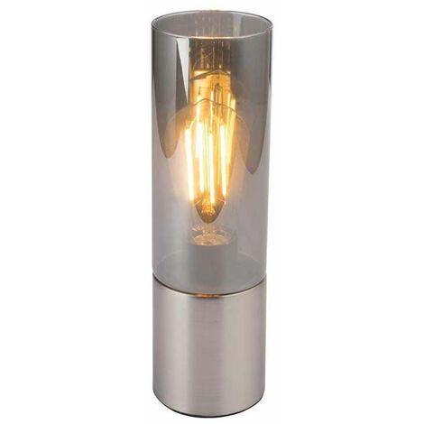 Lámpara de mesa lámpara iluminación cable textil níquel mate cristal toque salón