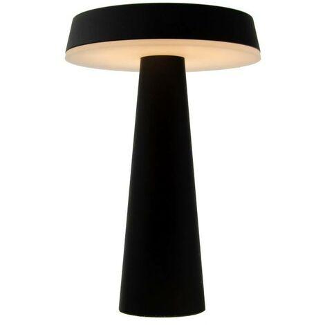 "Lámpara de mesa LED ""ARES"" 8W touch dimable | Negro Mate"