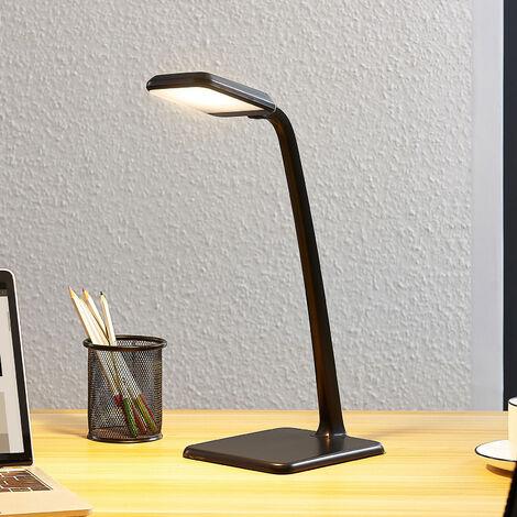 Lámpara de mesa LED Daleen en gris oscuro