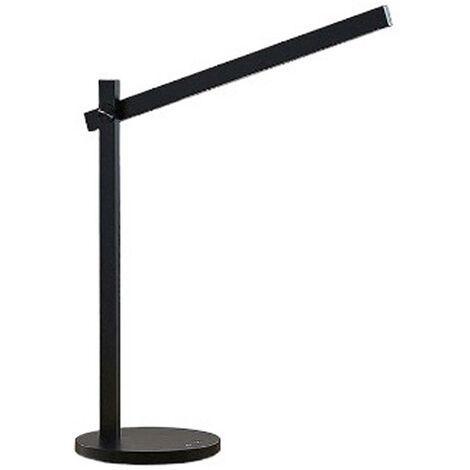 Lámpara de mesa LED Loretta, recta, negra