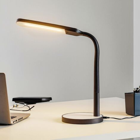 Lámpara de mesa LED Maily atenuable con puerto USB