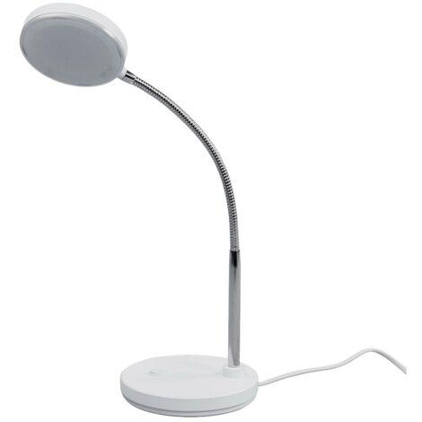 Lámpara de mesa LED Milow en blanco