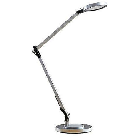 Lámpara de mesa LED Rilana con atenuador, plateada
