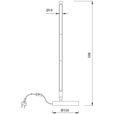 Lámpara de mesa LED Torch (11W)
