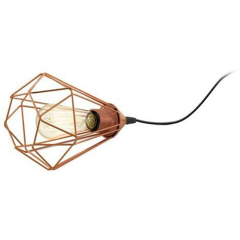 Lámpara de mesa metálica vintage color cobre 220-240 V IP20   rame