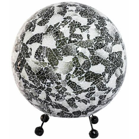 Lámpara de mesa mosaico bola living dormitorio iluminación shell lámpara negro blanco en un conjunto incluye lámpara LED