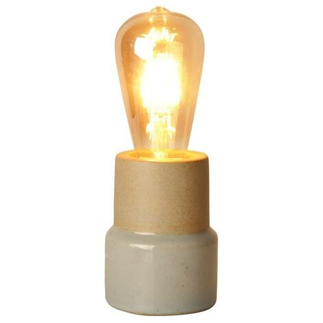 Lámpara de mesa pequeña de porcelana mate E27