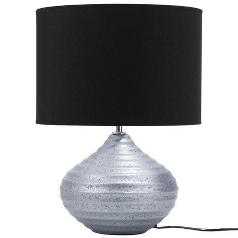 Lámpara de mesa plateada KUBAN