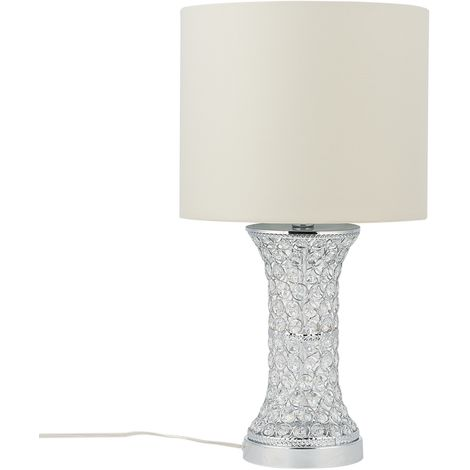Lámpara de mesa plateada LIFFEY