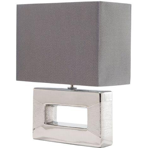 Lámpara de mesa plateada ONYX