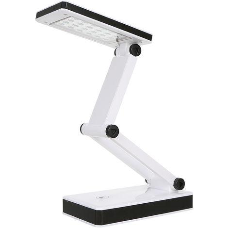 Lampara de mesa plegable, luz de escritorio, 24 LED, control tactil sensible