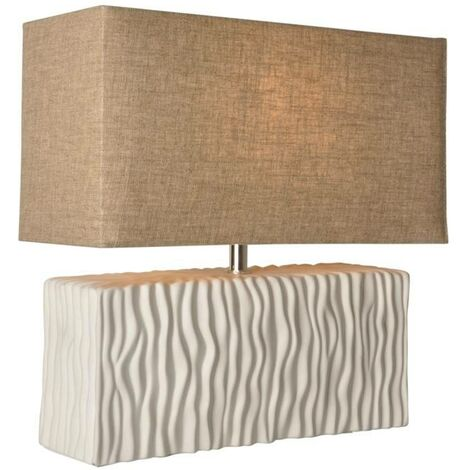 Lámpara de mesa rectangular de cerámica E27