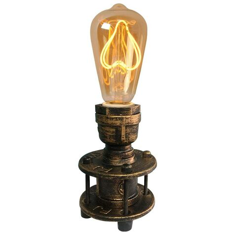 Lámpara de mesa vintage color bronce E27