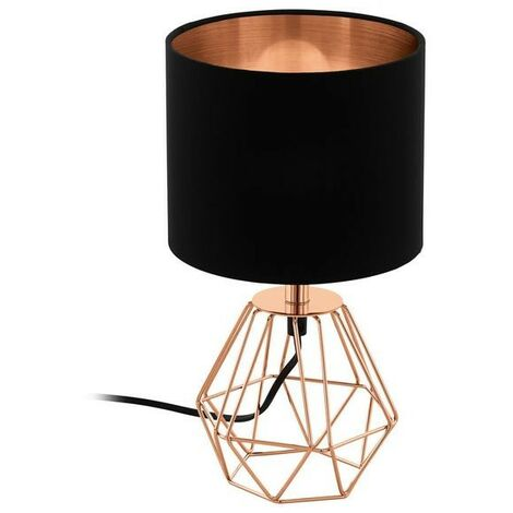Lámpara de mesa vintage de metal de color cobre 220-240 V IP20   rame