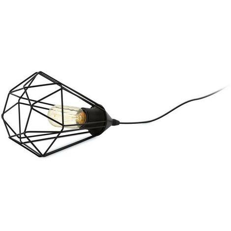 Lámpara de mesa vintage de metal negro 220-240 V IP20   hierro