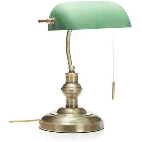 Lámpara de mesaMilenka con pantalla verde