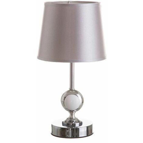 Lámpara de mesita de noche moderna de porcelana plateada de34x17x17 cm