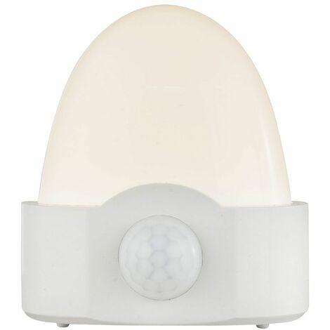 Lámpara de noche con batería Luz de noche con detector de movimiento Luz de orientación LED, 2 pilas AA, de pie o suspendida, LED, H 9,2 cm
