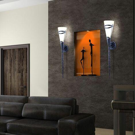 Lámpara de pared antigua, sala de estar, comedor, filamento, foco, antorcha, lámpara de vidrio en un conjunto que incluye un iluminante LED