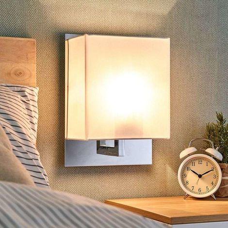 Lámpara de pared Belmira con pantalla de tela