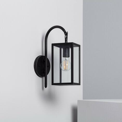 Lámpara de Pared Brazo Superior Atrium Negro Negro