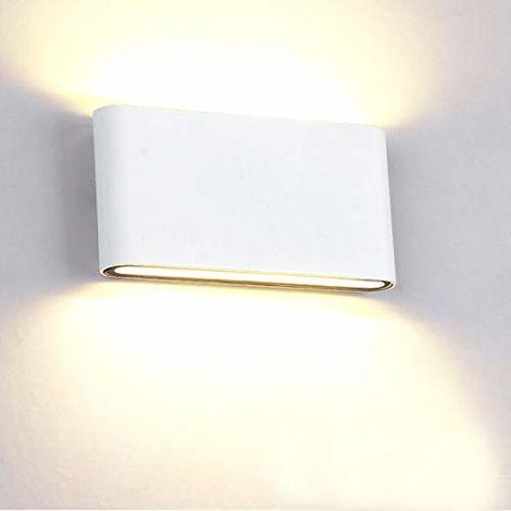 Lámpara de Pared Creativa Cuadrada de Estilo Luz de Pared Simple Moderno Aplique de Pared Nórdico 12W Blanco Cálido Blanco