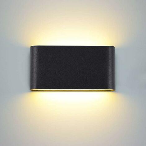 Lámpara de Pared Creativa Cuadrada de Estilo Luz de Pared Simple Moderno Aplique de Pared Nórdico 12W Blanco Cálido Negro