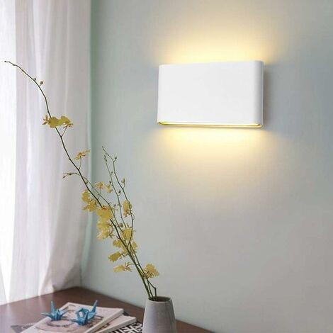 Lámpara de Pared Creativa Cuadrada de Estilo Luz de Pared Simple Moderno Aplique de Pared Nórdico 6W Blanco Cálido Blanco