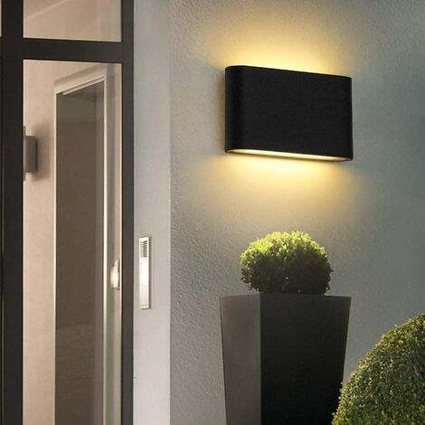 Lámpara de Pared Creativa Cuadrada de Estilo Luz de Pared Simple Moderno Aplique de Pared Nórdico 6W Blanco Cálido Negro