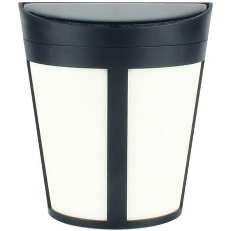 Lampara de pared de 1,2 V 1W 6 LED solar, luz al aire libre, blanco calido